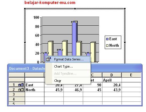 cara membuat grafik pada microsoft word xp dan 2003