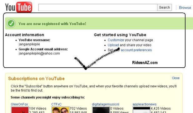 cara membuat youtube