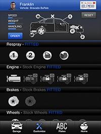GTA 5: trucchi e cheats - app iFruit - Los Santos Customs