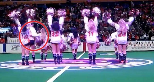buffalo bandis cheerleader wardrobe malfunction