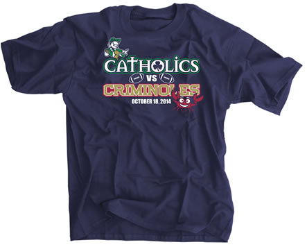 catholics criminoles t shirt