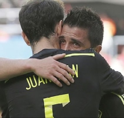 david villa crying