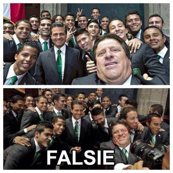 mexico soccer team fake selfie