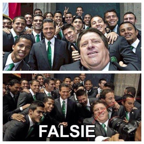 mexico soccer team fake selfie