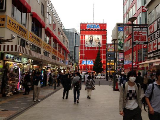 In Akihabara, the Sega logo still features prominently.