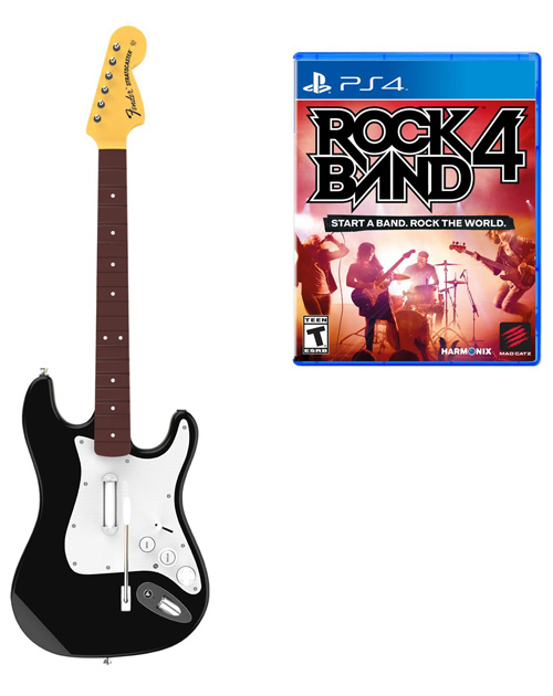 Rock Band 4 (with Guitar) PS4 Cover