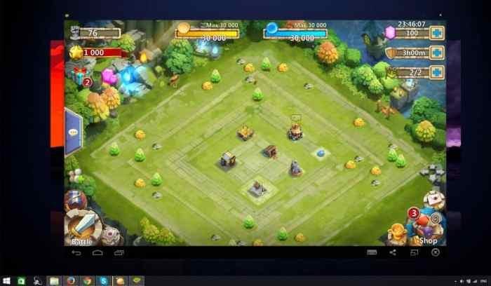 Castle Clash desktop win 8