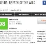 『ゼルダの伝説 ブレスオブザワイルド』海外レビュー解禁。ほとんどのメディアが満点を付ける超高評価!メタスコアは「98」をマーク