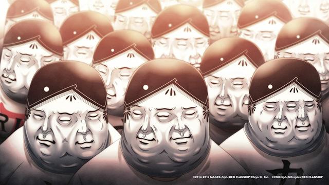 力士シールの仮面を被った集団