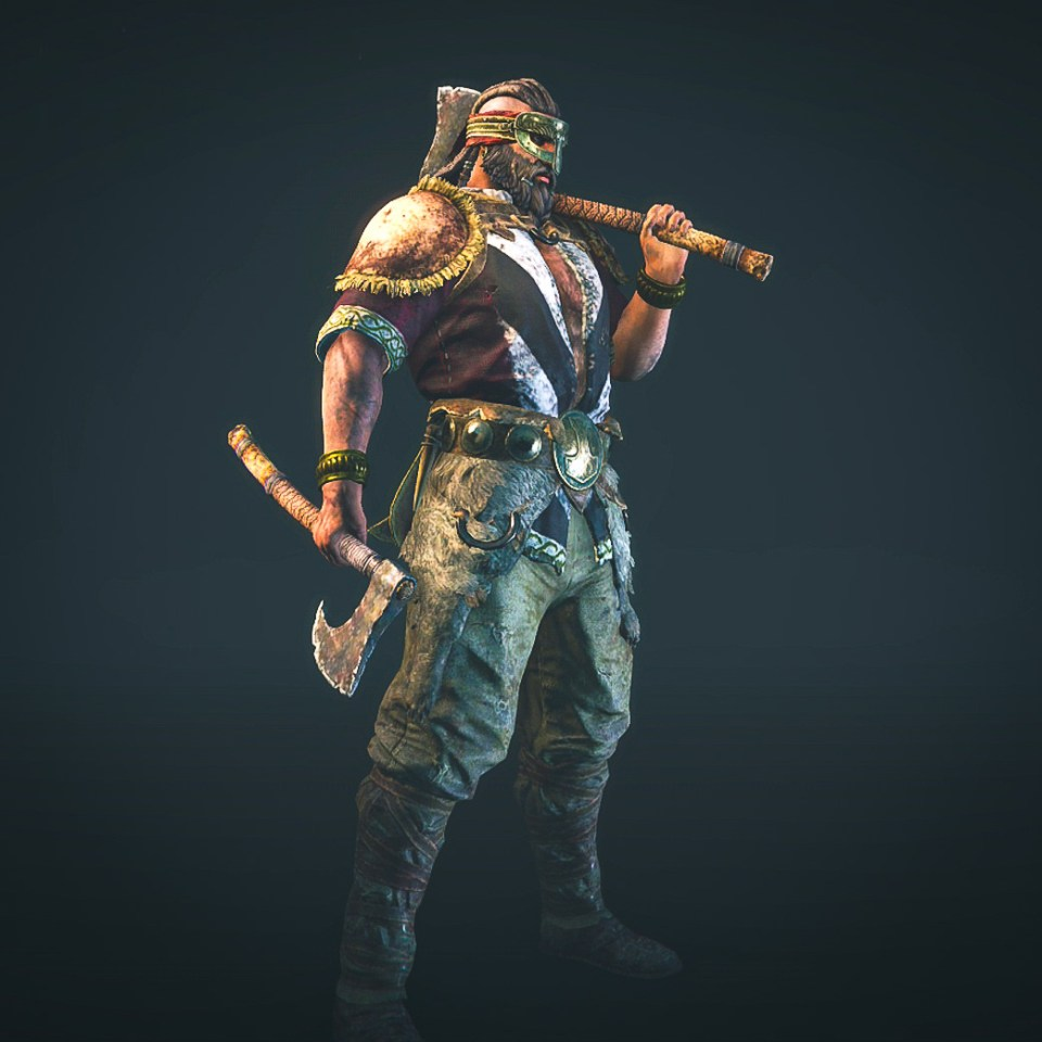 The Berserker hero from the For Honor game Closed Alpha.
