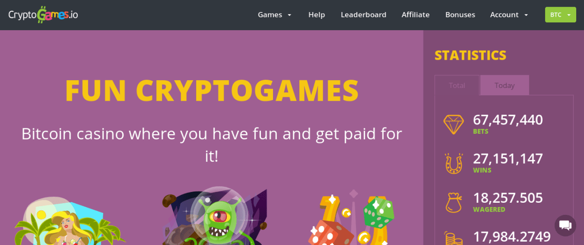Gana bitcoins, litecoins o dogecoins jugando con Cryptogames