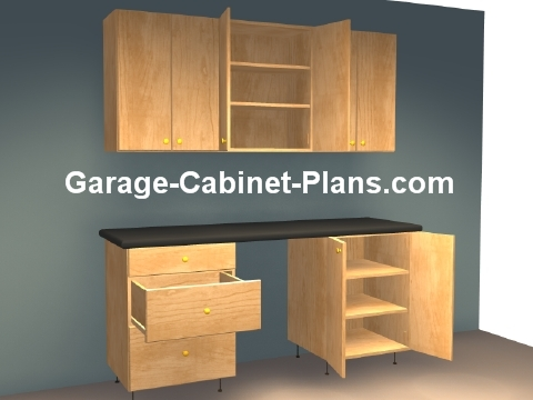ft Plywood Garage Cabinet Plans - Garage Cabinet Plans