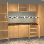 A Closer Look - 10 ft Garage Cabinet Plans - 9 pc Set