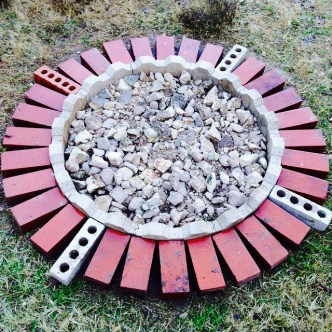 New fire pit at Katrina's house.
