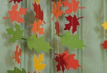 Paper Autumn Leaf Garland