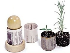 Newspaper Starter Pots for Seedlings