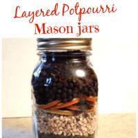 Layered Potpourri Jars
