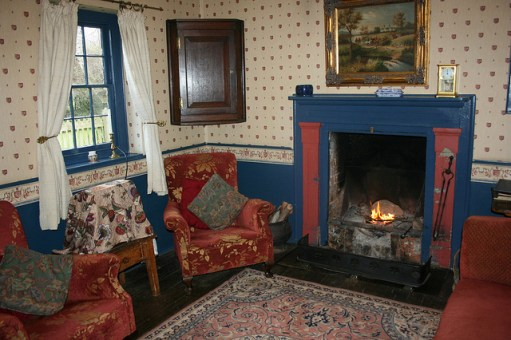 Cosy fireplace in the Gardener's Cottage