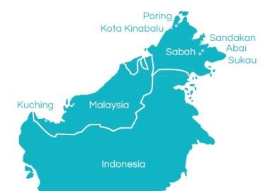 Sensational Sabah tour map