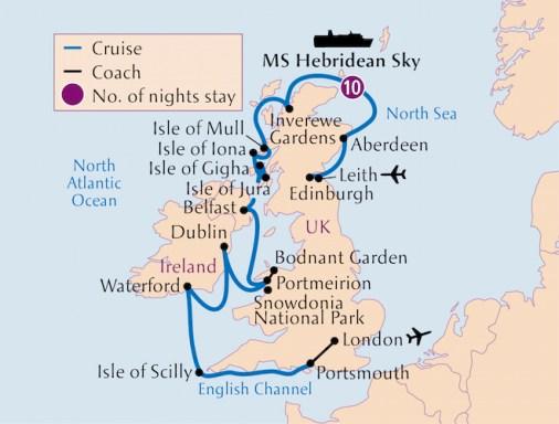 Botanica Tour map British Isles