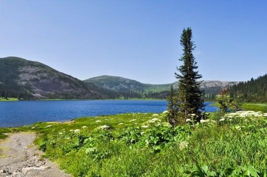 Lake at Ergaki, Russia in summer