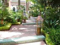 Morocco, Marrakesh - Hotel La Mamounia's inviting entrance. Photo Linda Green