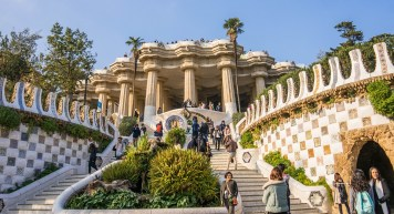 Gaudi in Parc Guell. Barcelona, Spain. Photo Mariamichelle