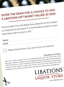 Libations Liquor Stores | Coupon Promotion Creation