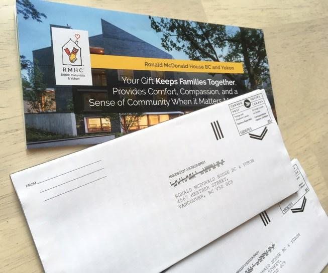 RMHBC | Canada Post Self Return Donation Form