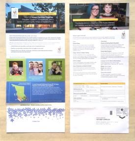 RMHBC | Canada Post Self Return Donation Form | Unfolded