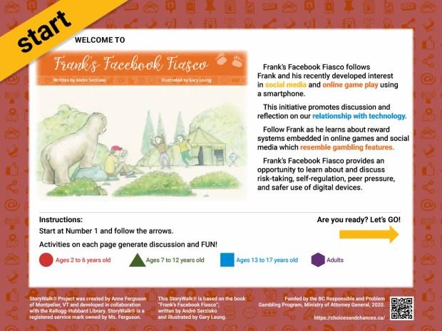 Frank's FaceBook Fiasco – StoryWalk Illustration Boards