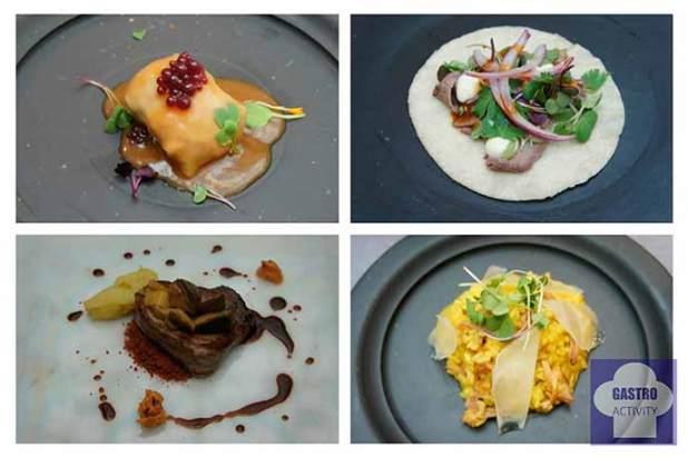 Platos preparados con los productos de la Pasarela Gastronómica