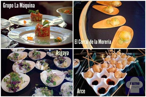 Tapas de Grupo La Máquina, El Corral de la Morería, Asgaya y Arce