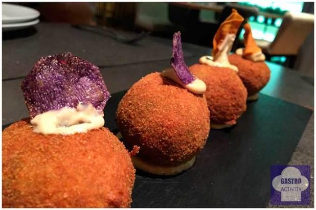 Croquetas de boletus y Croquetas de chipirones Restaurante Kotte Madrid