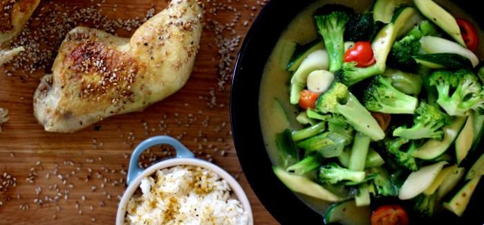 Familiemad: Kylling i fløde med stegte grøntsager