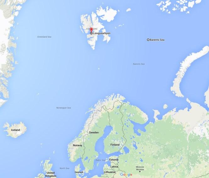 Hvis du skulle være i tvivl om hvor langt nordpå vi er...