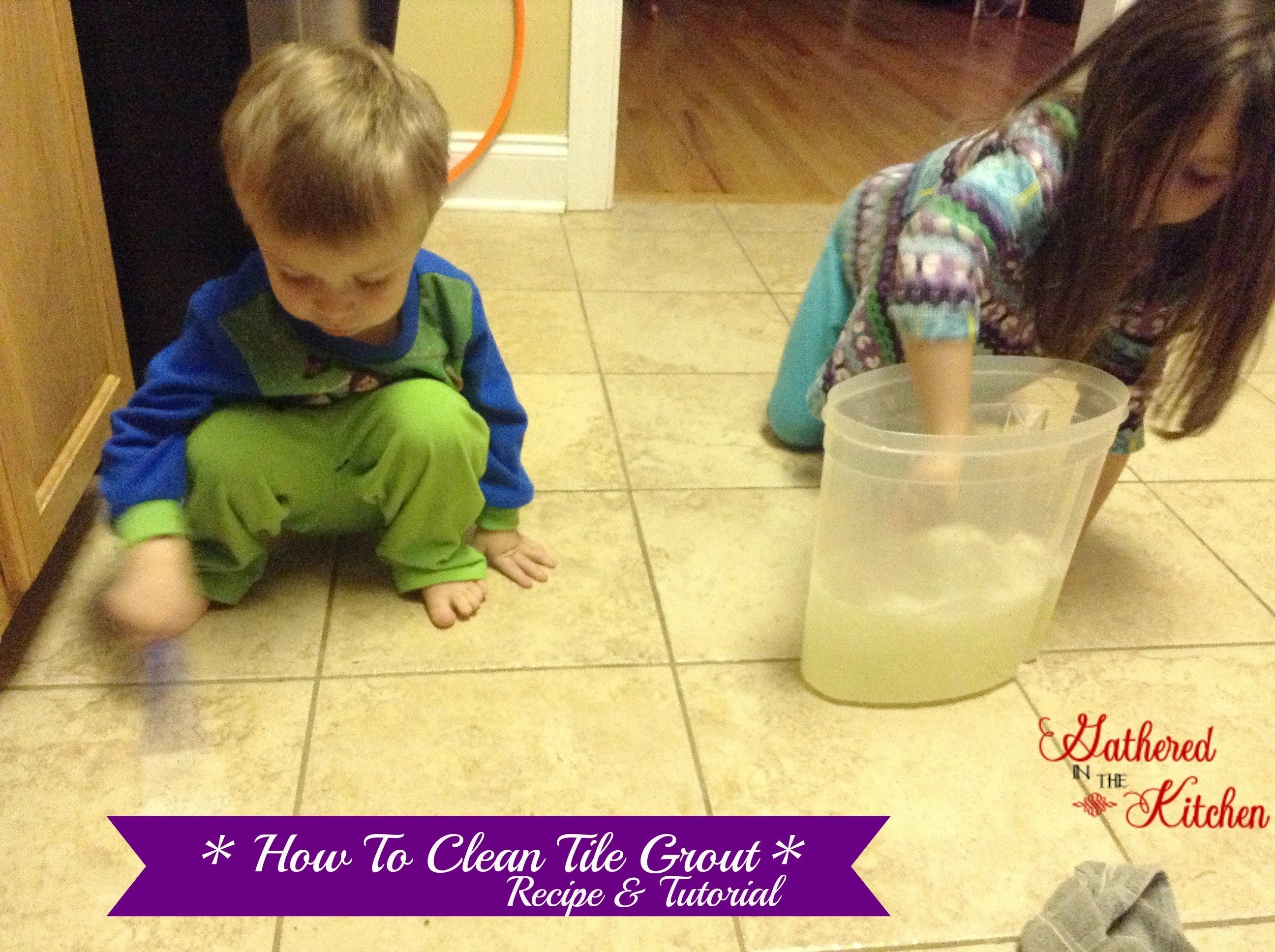 How To Clean Tile Grout + Homemade Cleaner Recipe