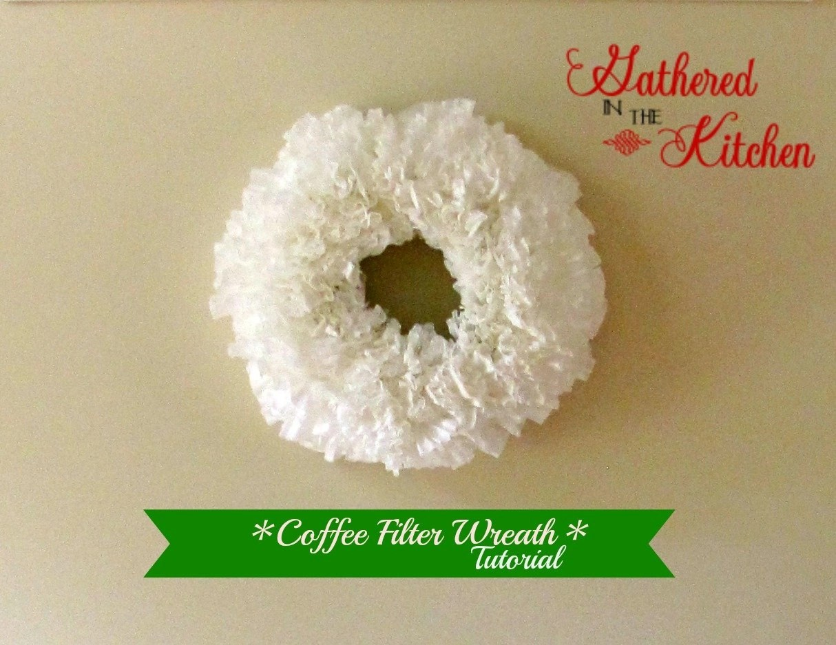 coffee filter wreath2
