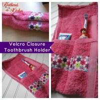 Velcro Closure Toothbrush Travel Case/Holder