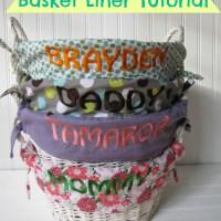 Easter Basket Liner Tutorial