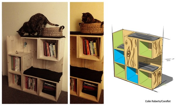 Gatos e livros? Claro que sim! Design de Collin Roberts.