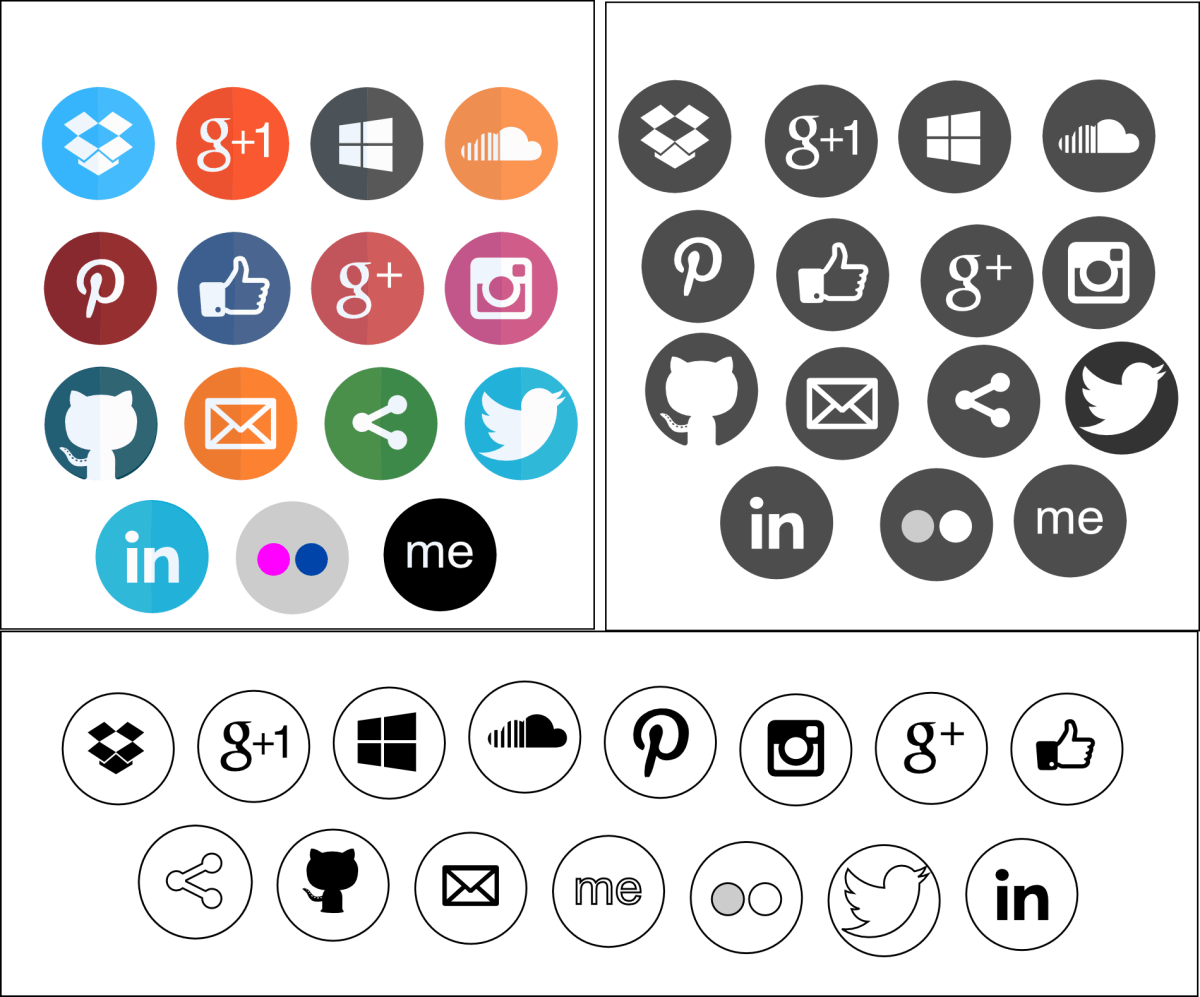 Full Moon Social Bookmarking Icons