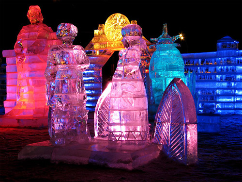 Festivals Around The World - Ice Sculptures at the Winter Festival in Moscow
