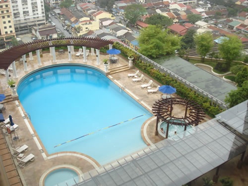 Sunway Putra Swimming Pool Overlooking The City