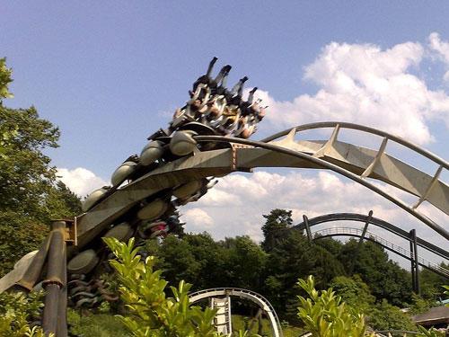 Nemesis Roller Coaster at Alton Towers