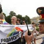 Russian Policeman Gay Protest