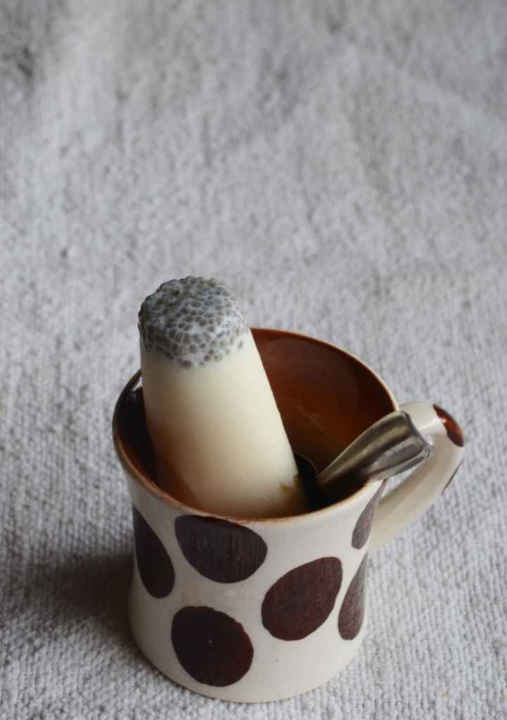 Milk and Chia Seed Popsicle