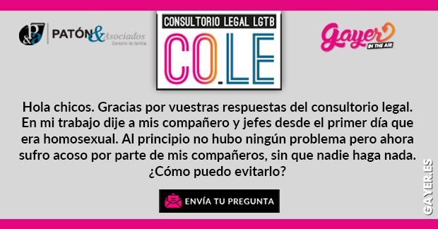 DISCRIMINACIÓN POR SER GAY | COLE CONSULTORIO LEGAL LGTB