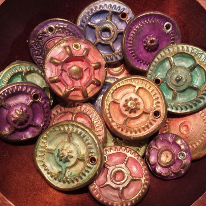 Steampunk Polymer Clay Gears