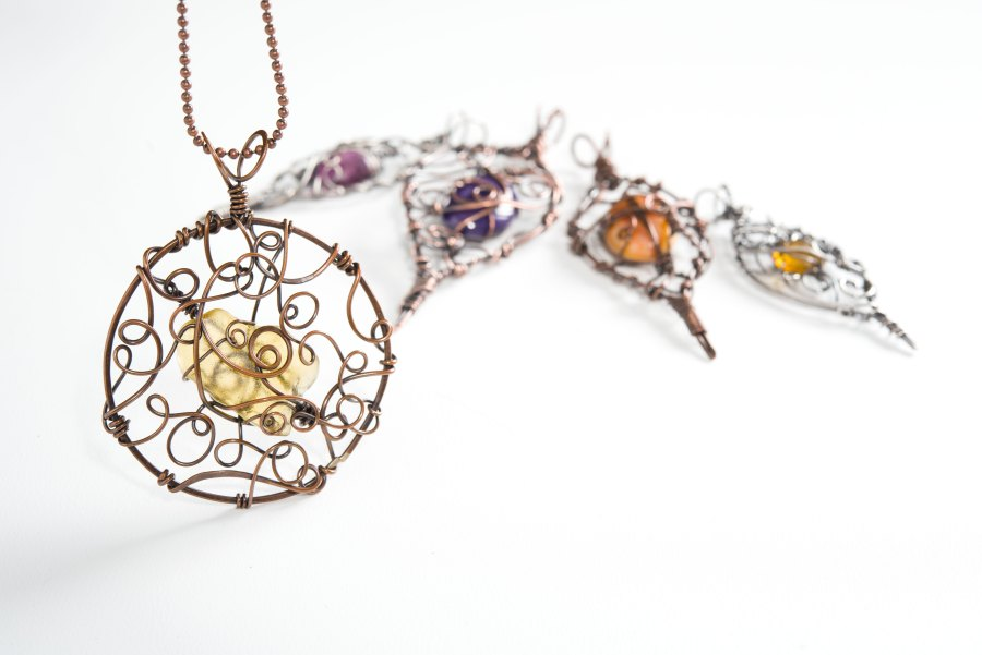 Organic Wire-Wrapped Pendants: Craftsy Class Goes Live!
